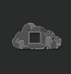 circuit cloud computing vector image