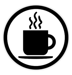 Coffee cup button vector image