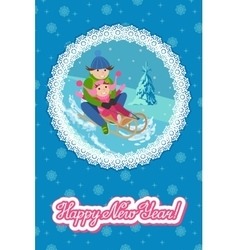 congratulation card new vector image