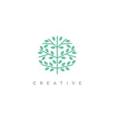 creative abstract tree logo design vector image