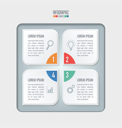 creative concept for infographic business concept vector image