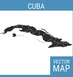 Cuba map with title vector