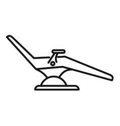 Dentist armchair icon outline style vector