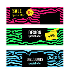 design abstract web banners sale special offer vector image