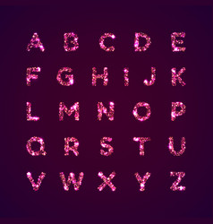 English alphabet bright font letters vector