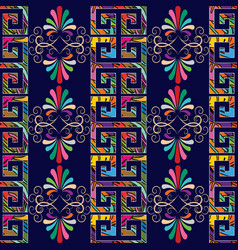 Floral grecian seamless border pattern vector