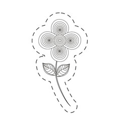 flower decoration cut line vector image