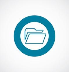 Folder icon bold blue circle border vector