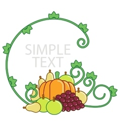 Frame for inscriptions and vegetables vector image