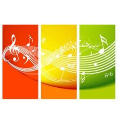 fresh music theme vector image