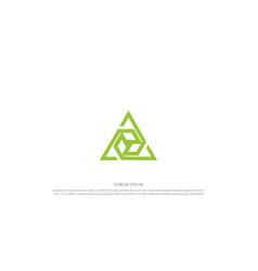 Futuristic triangle box cube logo design vector