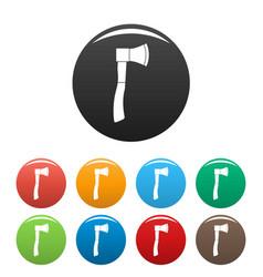 garden axe icons set color vector image