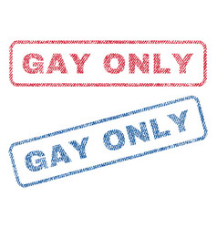 gay only textile stamps vector image