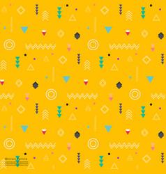 geometric flat pattern vector image