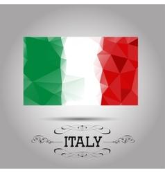 geometric polygonal Italy flag vector image