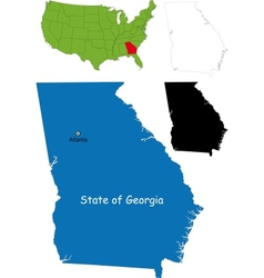 Georgia map vector image