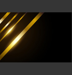 golden lines abstract background vector image