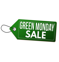 Green monday sale label or price tag vector