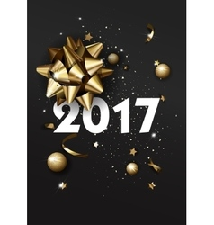 Happy New Year 2017 greeting card or poster vector image