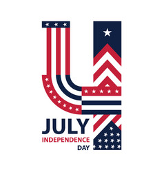 Happy usa independence day 4 th july greeting vector