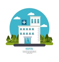 hospital building clinic design vector image