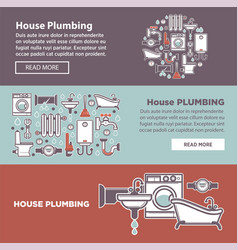 House plambing internet page vector