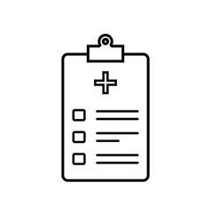 Icon health patient registration patient vector