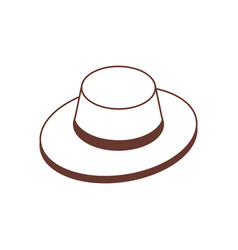 isometric tourist safari hat icon vector image