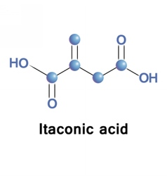 Itaconic acid industrial vector