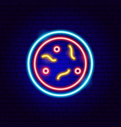 laboratory microbes neon sign vector image