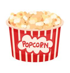 Large bucket popcorn on a vector