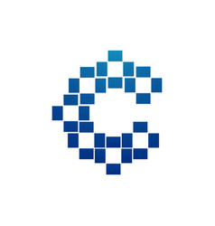 letter c pixel logo alphabet logotype design vector image