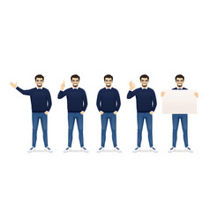 man in casual clothes set vector image
