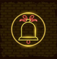 merry christmas card neon light vector image
