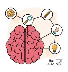 mind human brain memory smart creative idea vector image