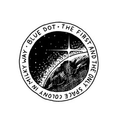 Mission of mars logo exploration of the vector