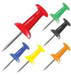 Motley pin set vector