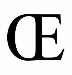 Oe ligature latin capital letter vector