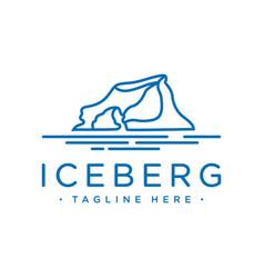 Outline iceberg logo design vector
