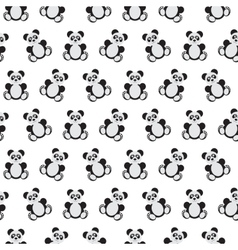 Panda bear pattern vector