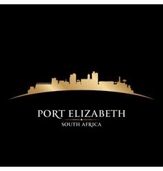 Port Elizabeth South Africa city skyline silhouett vector image