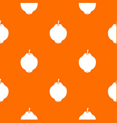 quince fruit pattern seamless vector image