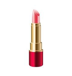 Realistic pink lipstick vector image
