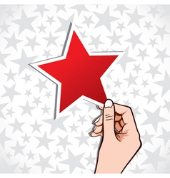 red star sticker vector image