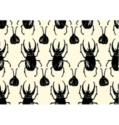 Repeating pattern made of sketched bugs vector image