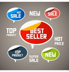 Retro Labels Tags Best Seller New Super Sale Top vector image