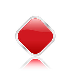 Rhomb icon red vector