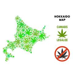 Royalty free marijuana leaves mosaic hokkaido vector