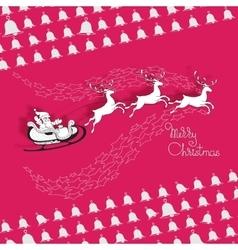 Santa Claus rides in a sleigh vector