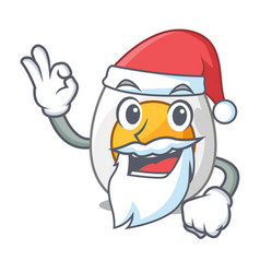 Santa freshly boiled egg isolated on mascot vector
